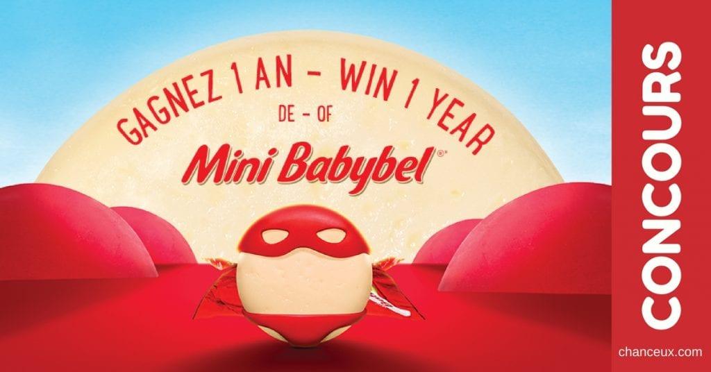 Gagnez des Mini Babybel gratuits durant une année complète !