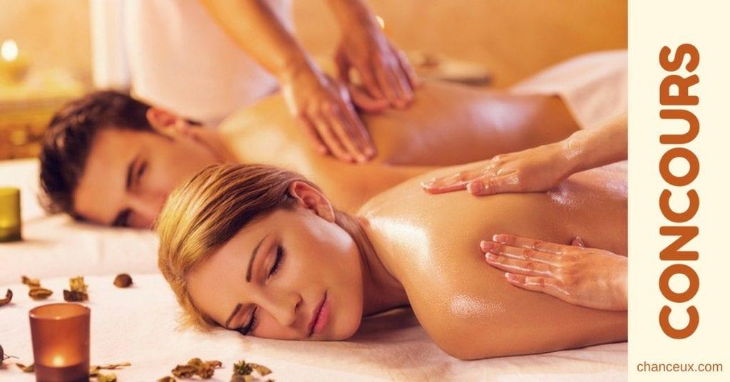 Gagnez un massage en duo avec la personne de votre choix!