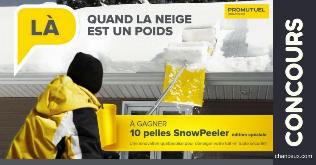 Gagnez 10 pelles SnowPeeler pour déneiger votre toit en un rien de temps et en sécurité!