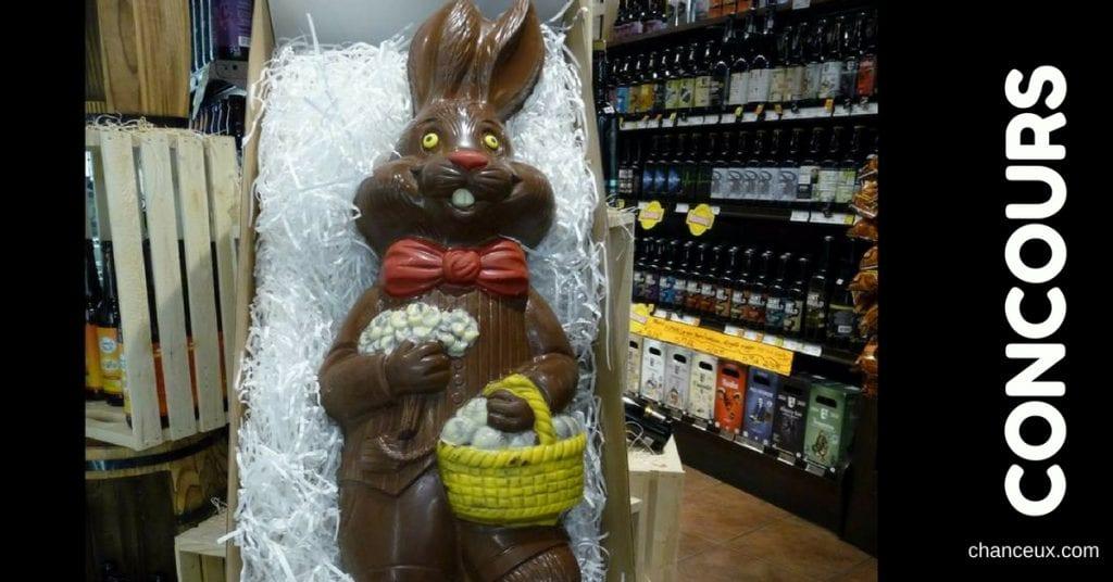 Gagnez ce superbe lapin en chocolat de 4200 Grammes d'une valeur de 109.99$ !