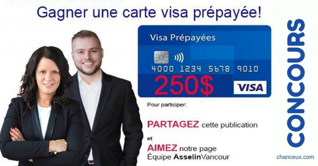 Concours - Gagnez une carte Visa prépayée de 250$ !