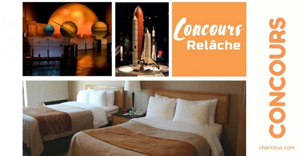 Gagnez une nuitée au Comfort Inn Laval ainsi qu'un laissez-passer pour 4 personnes au Cosmodôme!