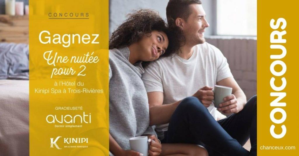 Concours Québec - Gagnez une nuitée pour 2 au nouvel hôtel du KiNipi spa & bains nordiques à Trois-Rivières!