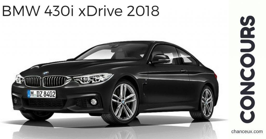 Gagnez une BMW 430i xDrive 2018 en location durant 24 mois