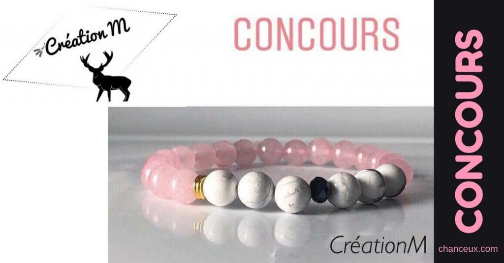 Gagnez ce merveilleux bracelet signé Création M !