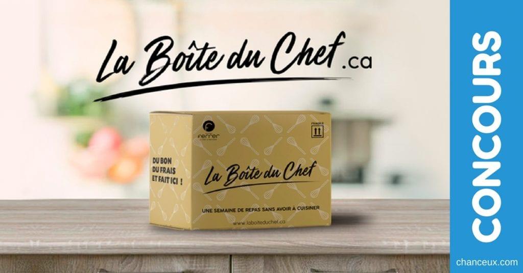 Concours Québec - Gagnez votre Boite du Chef signée Jérôme Ferrer !