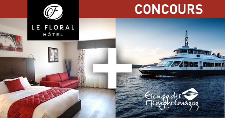 Gagnez un forfait croisière sur le lac Memphrémagog avec l'Hôtel le Floral!