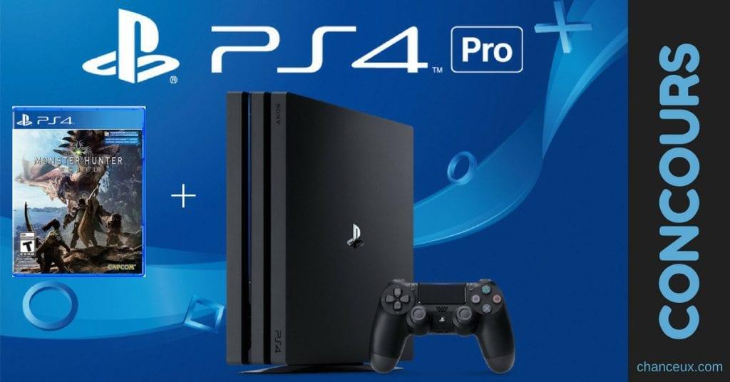 Gagnez uneconsole de jeux Playstation 4 Pro