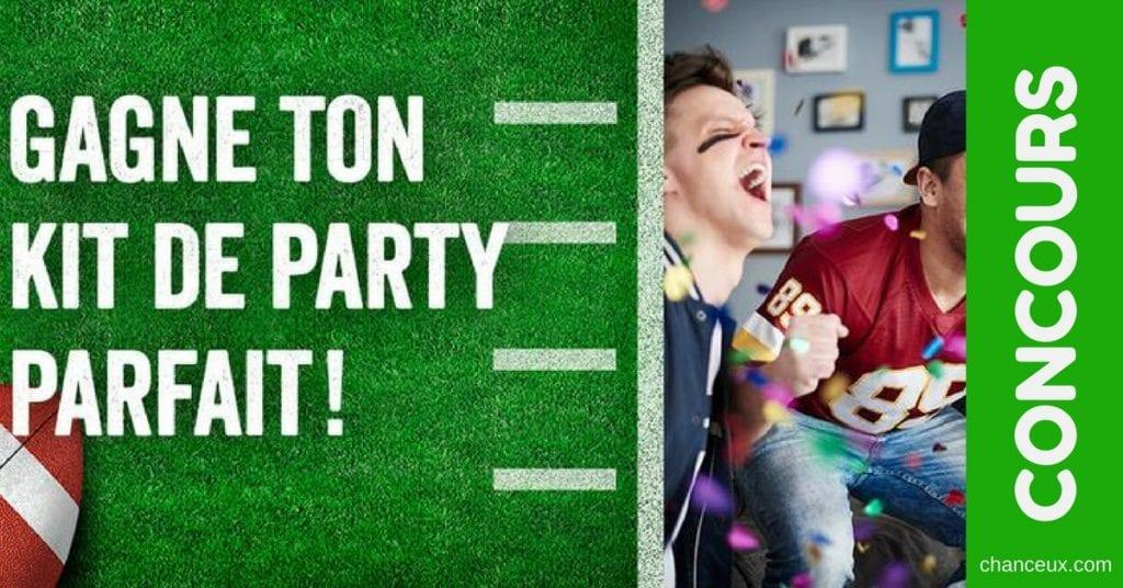 Gagne un kit de party pour ta soirée SuperBowl idéale!