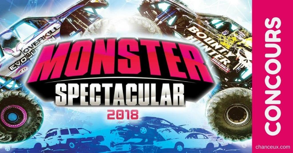 Gagne ta paire de billets pour le Monster Spectacular!