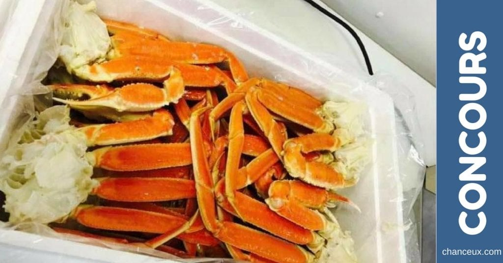 Gagnez une caisse de crabe 10lbs de 2L