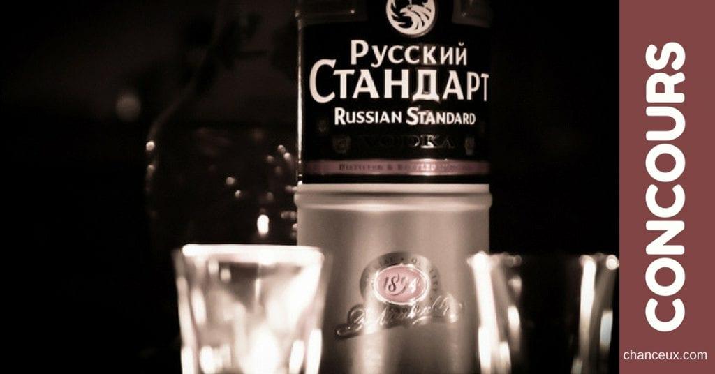 Gagnez une bouteille de vodka Russian Standard à partager avec vos ami(e)s !