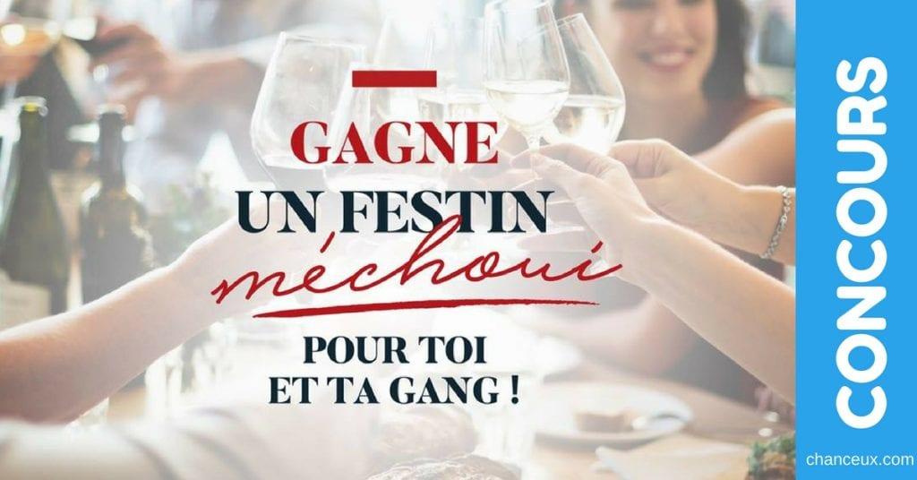 Concours Québec - Gagne un FESTIN MÉCHOUI pour toi et ta gang!