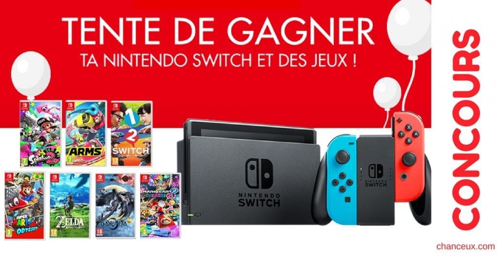 Gagne ta Nintendo Switch et des jeux !