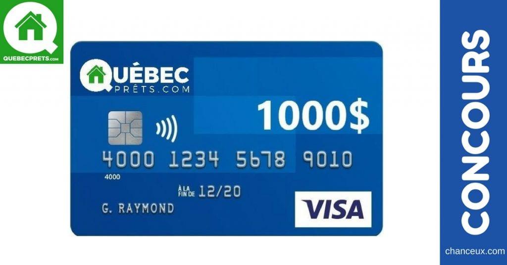 Gagnez 1 000 $ grâce a Québec Prêts !