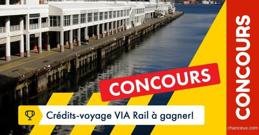 Gagnez 5 000$ en crédits-voyage VIA Rail Canada !