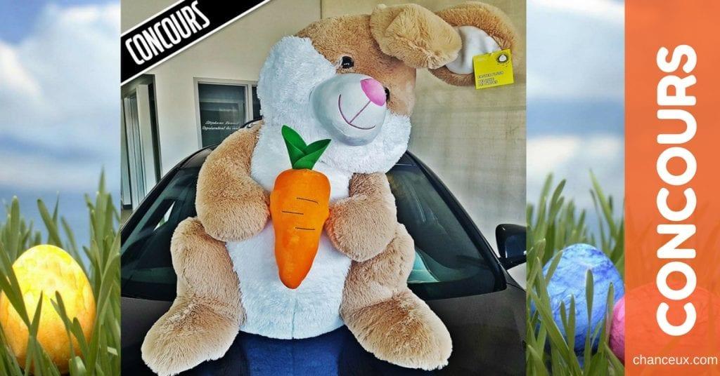 Gagnez ce super lapin en peluche pour Pâques!