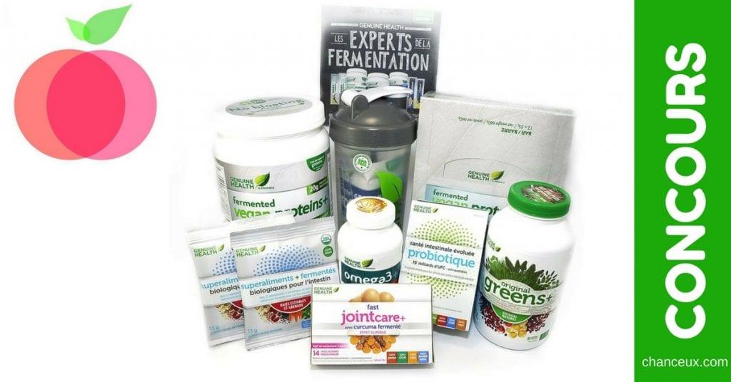 Gagnez cet ensemble de produits Genuine Health d'une valeur de 250$ !