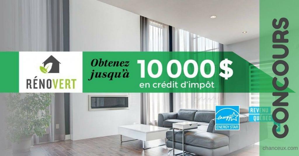 Gagnez jusqu'à 10 000 $ en crédit d'impôt !