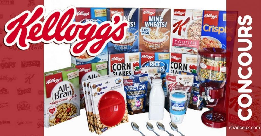 Gagnez l'ensemble ultime des amateurs de céréales Kellogg's !
