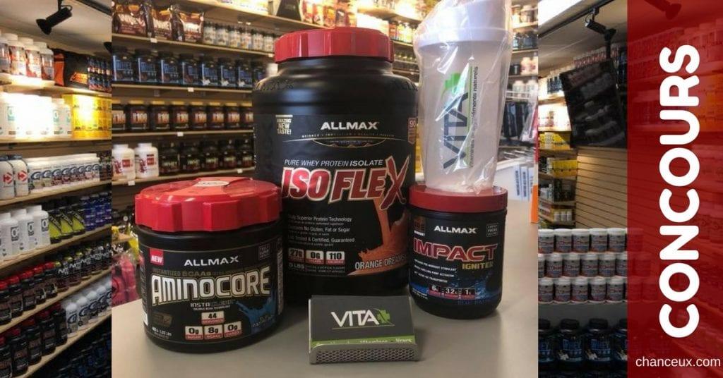 Gagnez le lot ALLMAX Nutrition d'une valeur de 170$!