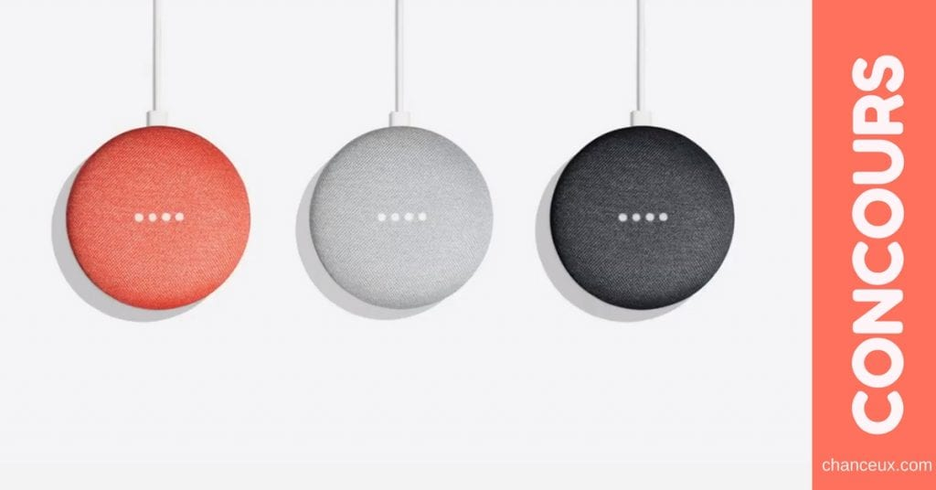 Gagnez un Google Home Mini d'une valeur de 79 $ !
