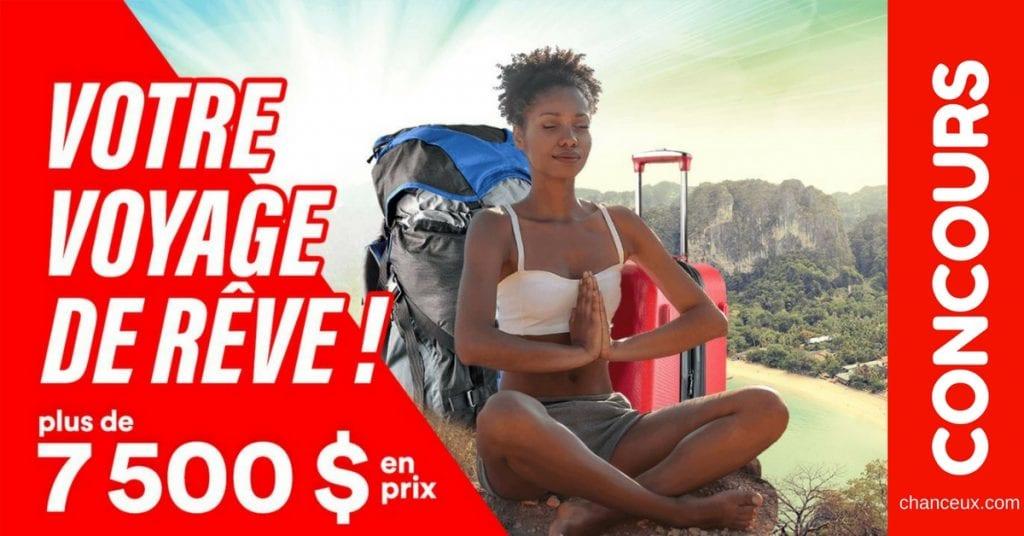 Gagnez un crédit-voyage d'une valeur de 3 000 $ pour la destination de votre choix !