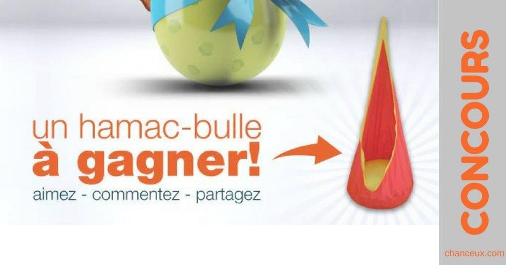 Gagnez un hamac-bulle orangé d'une valeur de 65$!
