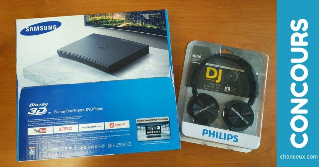 Gagnez un lecteur DVD Blu-ray 3D et un casque audio!