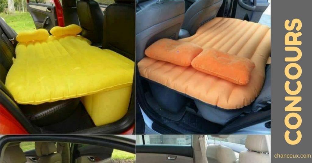 Gagnez un lit gonflable pour votre voiture!