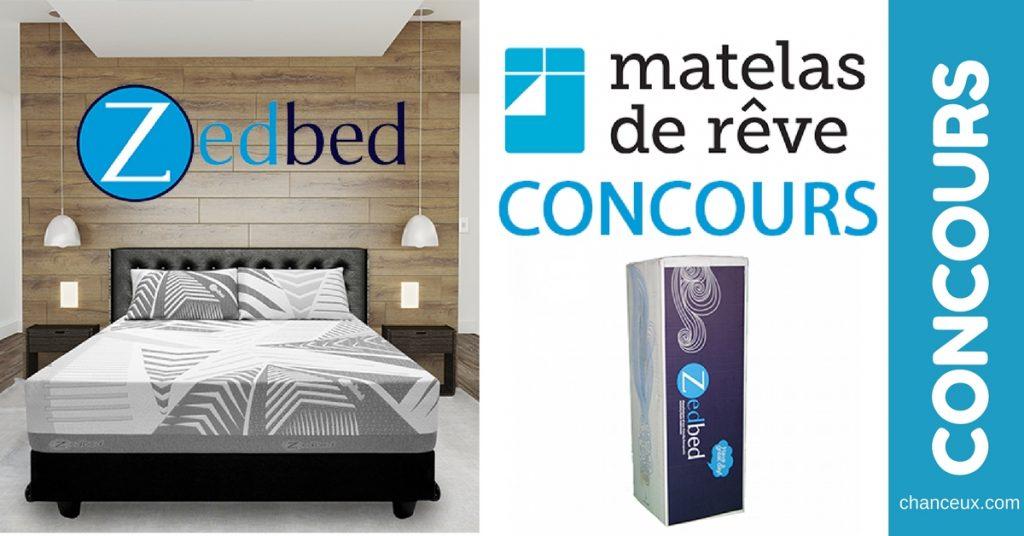 gagnez un matelas grand lit zyber zx d 39 une valeur de. Black Bedroom Furniture Sets. Home Design Ideas
