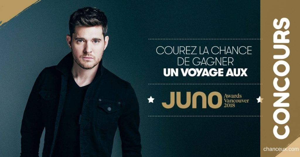 Gagnez un voyage aux Juno Awards Vancouver 2018 !