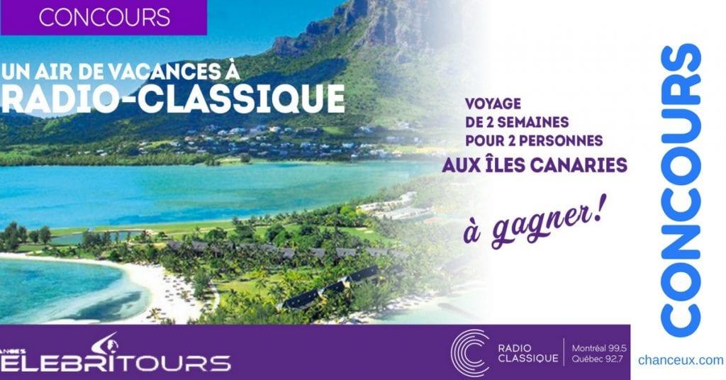 Gagnez un voyage de 2 semaines pour 2 personnes aux Îles Canaries !