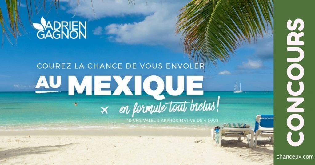 Gagnez un voyage d'une semaine au Mexique !