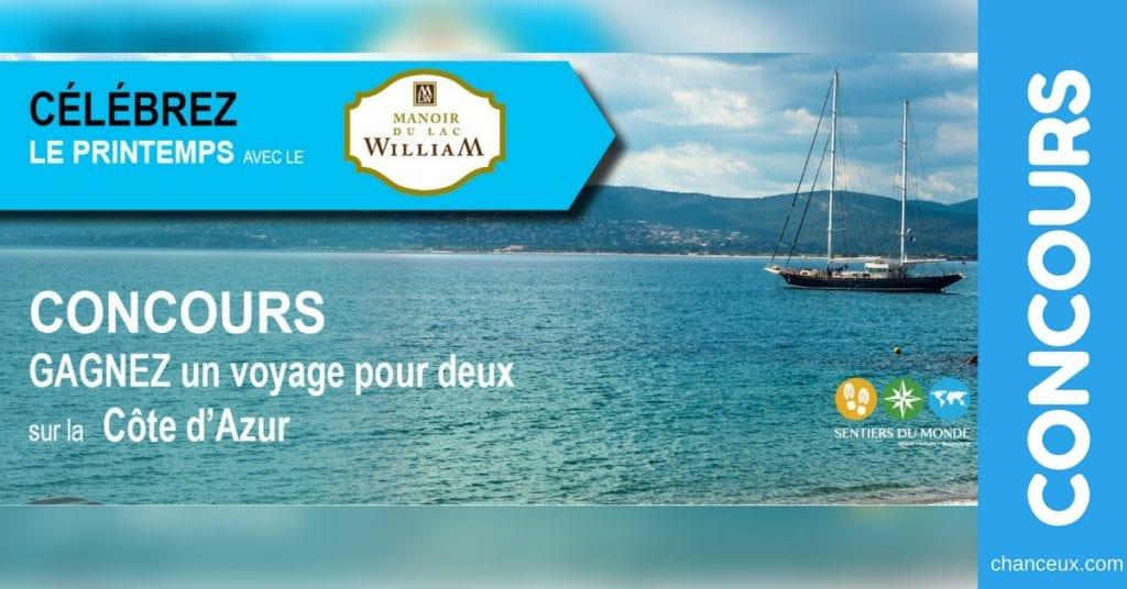 Gagnez un voyage pour deux sur la Côte d'Azur!