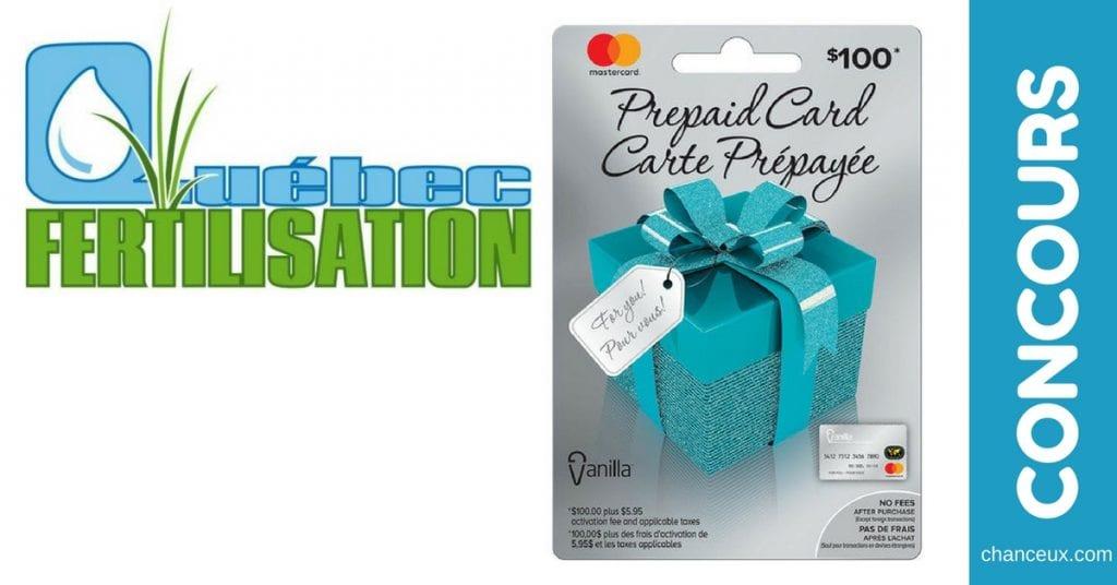 Gagnez une carte-cadeau Vanilla MasterCard de 100$ !