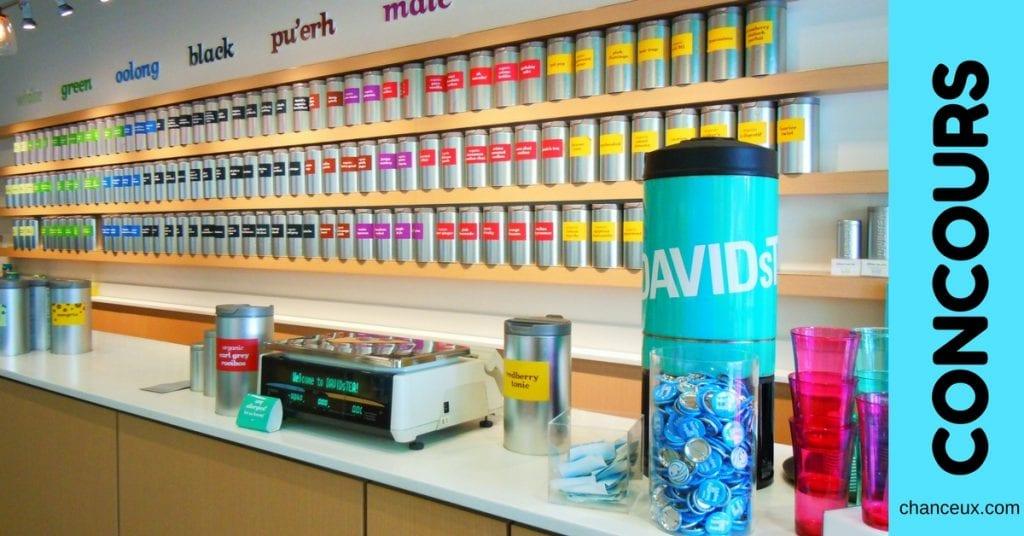 Gagnez une carte-cadeau d'une valeur de 100$ chez David's Tea !