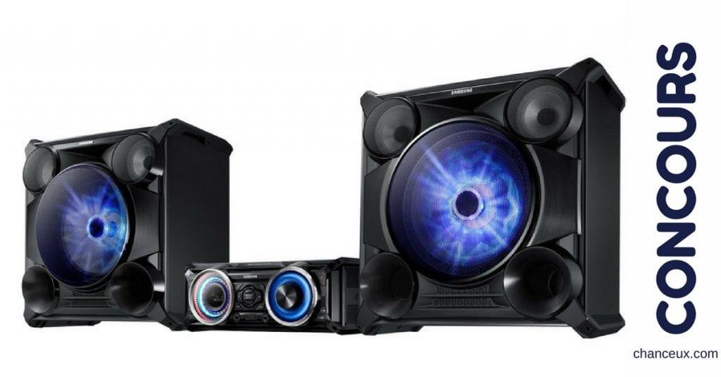Gagnez une chaine audio Bluetooth Samsung !