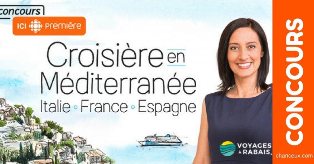 Gagnez une croisière en Méditerranée de l'ouest !