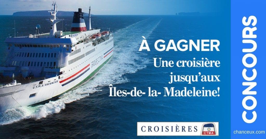Gagnez une croisière pour 2 personnes jusqu'aux Îles de la Madeleine !
