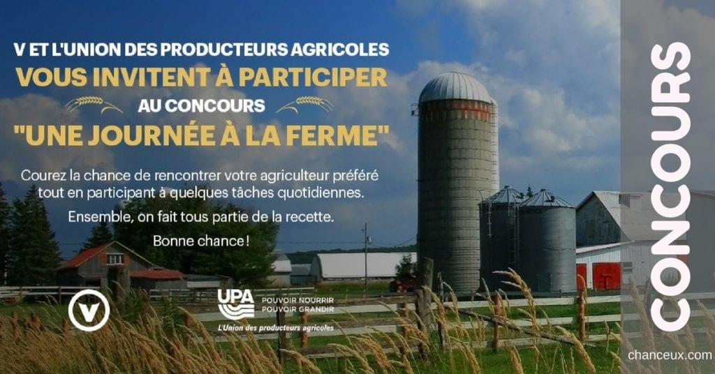 Gagnez une journée à la ferme avec votre agriculteur préféré !