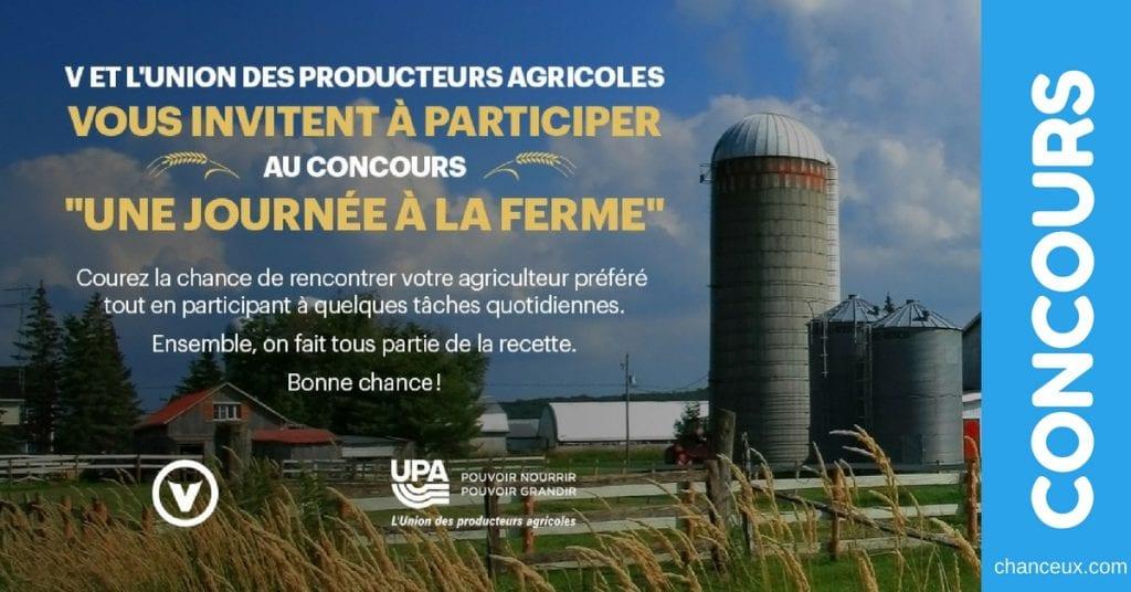 Gagnez une journée à la ferme et rencontrez votre cultivateur préféré!