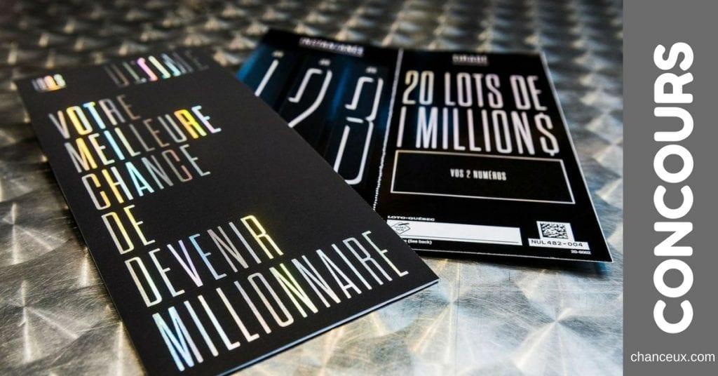 Gagnez votre billet ULTIME loto-Québec d'une valeur de 100$ !