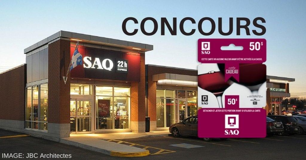 Concours Québec - Gagne une carte cadeau de 50$ SAQ