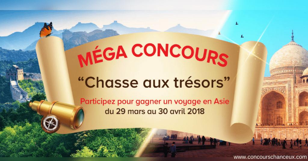 Concours Gagne un merveilleux voyage«Trésors» en Asie pour 2!