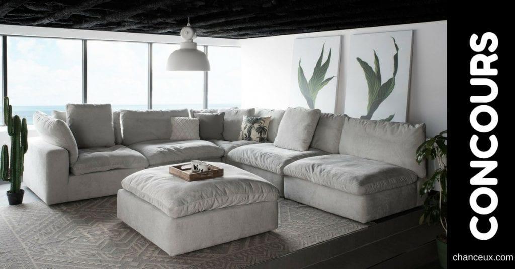 Gagnez 1000$ applicable sur un canapé ou modulaire sur mesure!