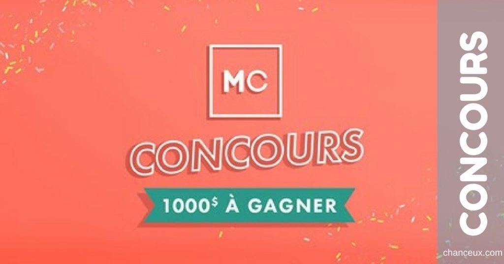 Gagnez 1000$ en carte-cadeau Mode Choc!