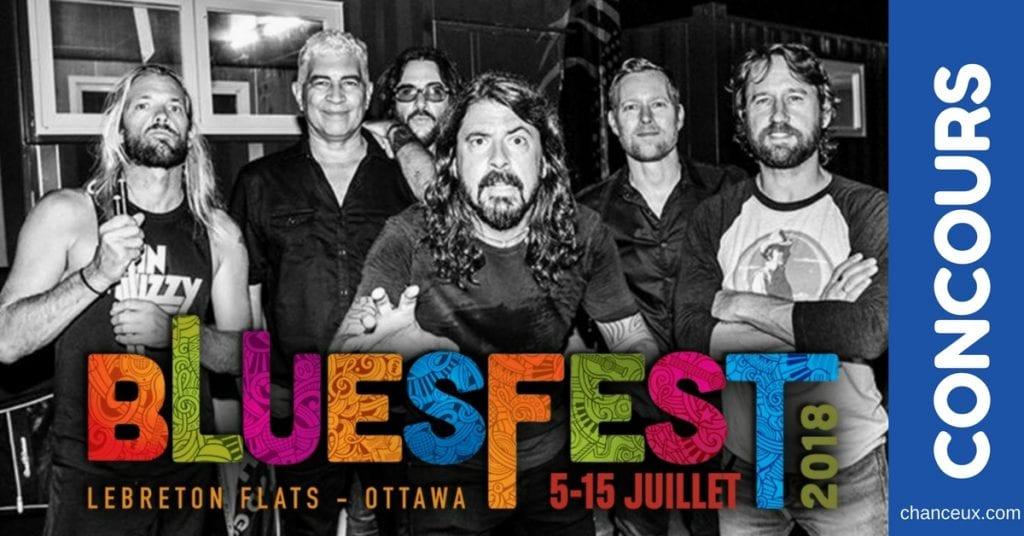 Gagnez 2 billets pour aller voir les FOO FIGHTERS au Ottawa Bluesfest!