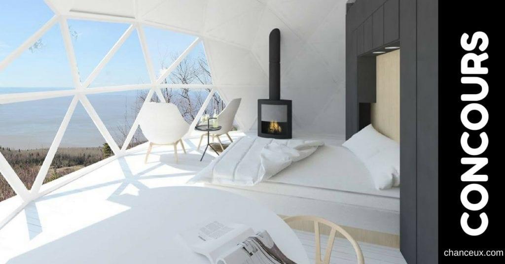 Gagnez 2 nuitées dans un luxueux dôme en pleine nature!