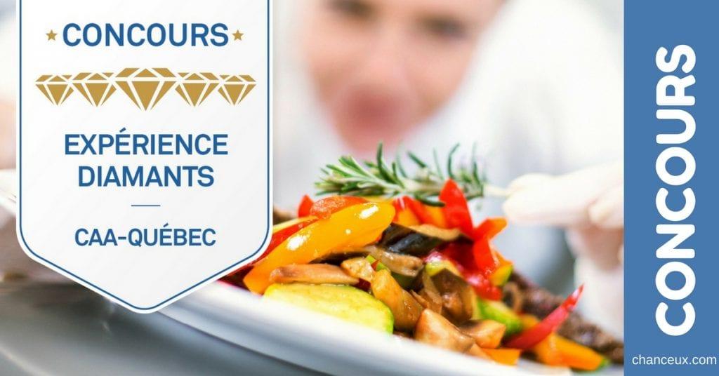 Gagnez 500$ dans l'un des établissements Quatre et Cinq Diamants du Québec de votre choix!